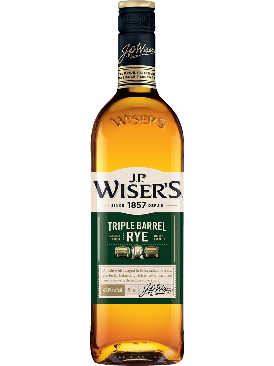 J.P. Wiser's Triple Barrel Rye Whisky