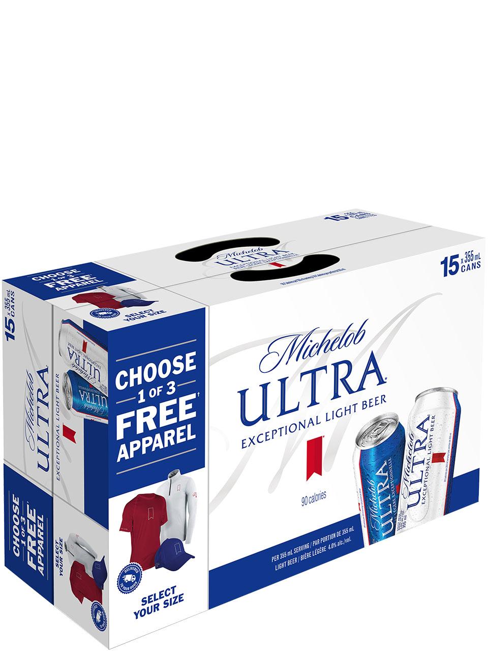 Michelob Ultra Sleek 15 Pack Cans