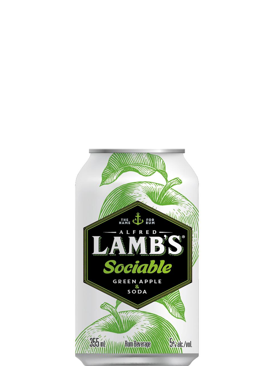 Lamb's Sociable Green Apple & Soda 6 Pack Cans
