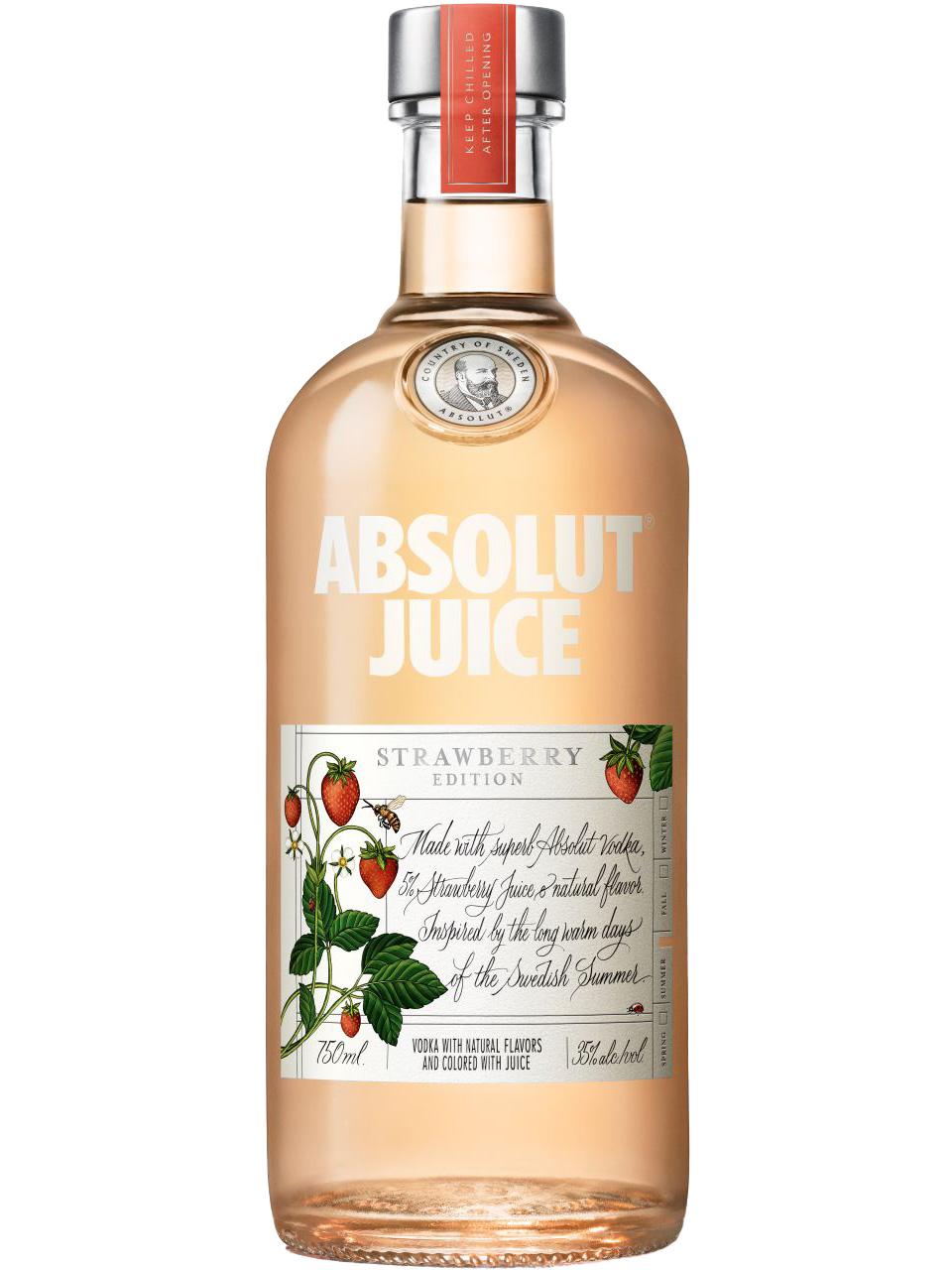 Absolut Juice Strawberry Edition Vodka
