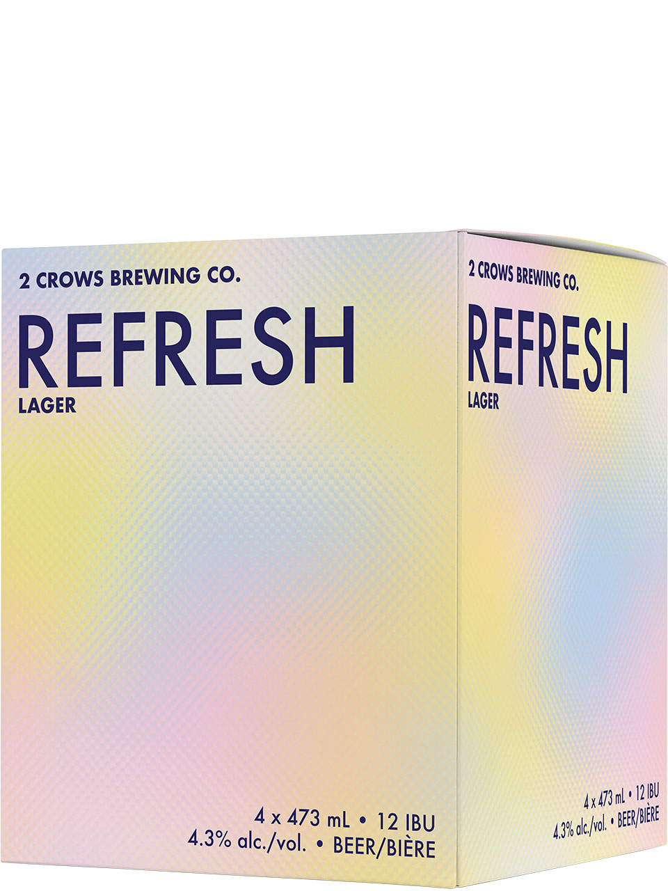 2 Crows Refresh Dry-Hopped Lager 4 Pack Cans