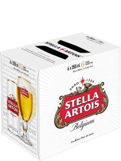 Stella Artois Sleek 6 Pack Cans