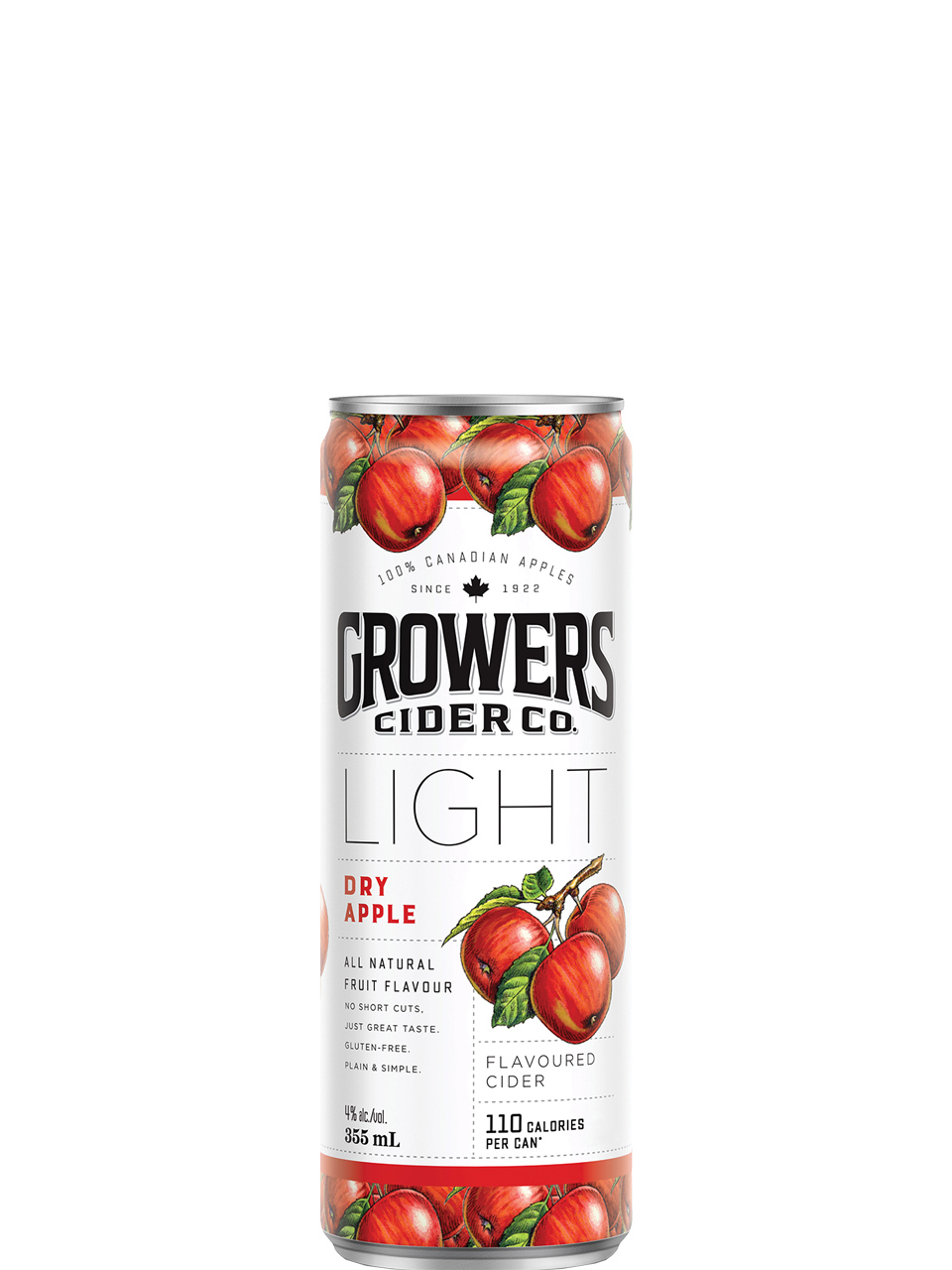Growers Light Dry Apple Cider 355ml Can