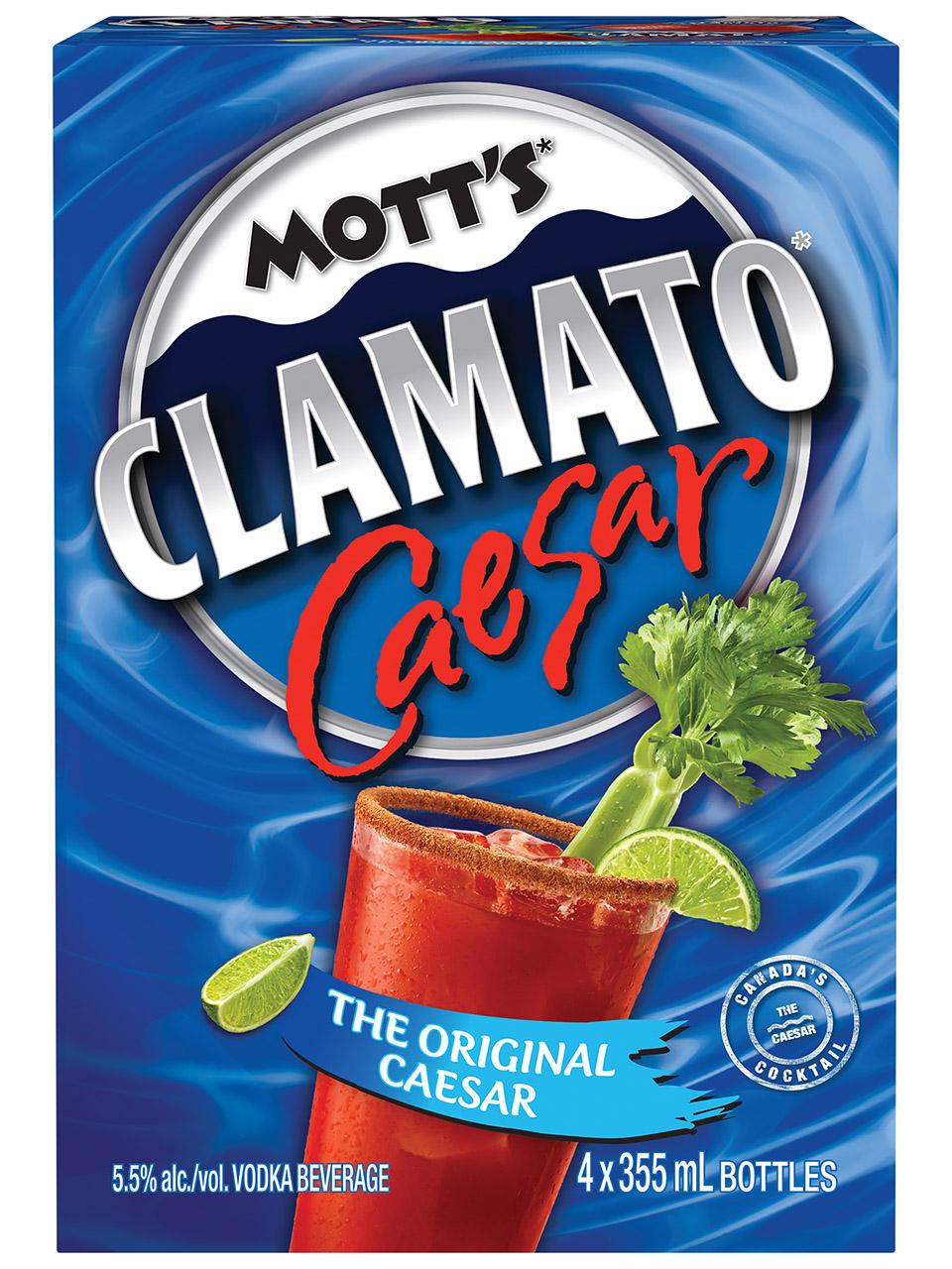Mott's Clamato Caesar Original 4 Pack Bottles