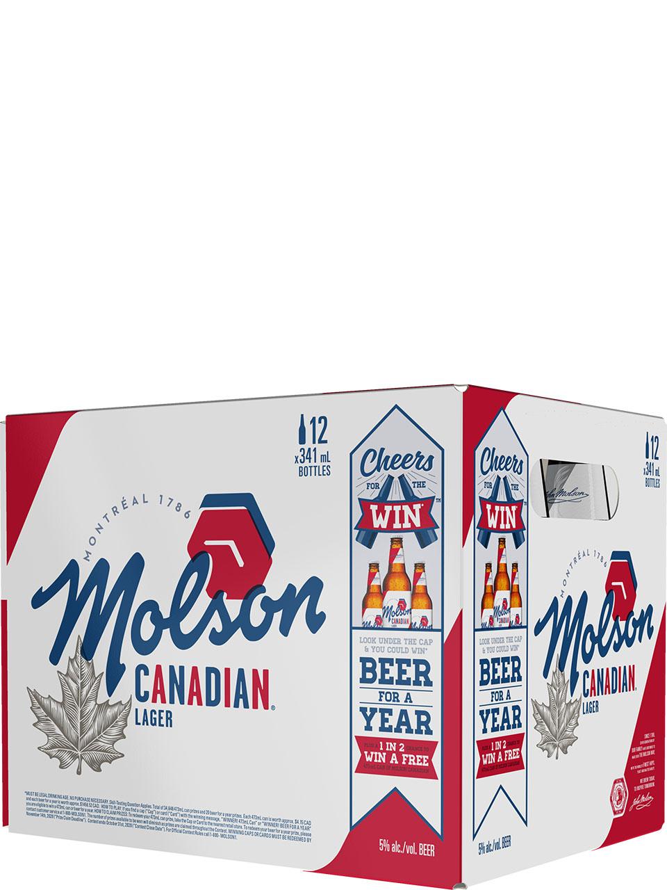 Molson Canadian Lager 12 Pack Bottles