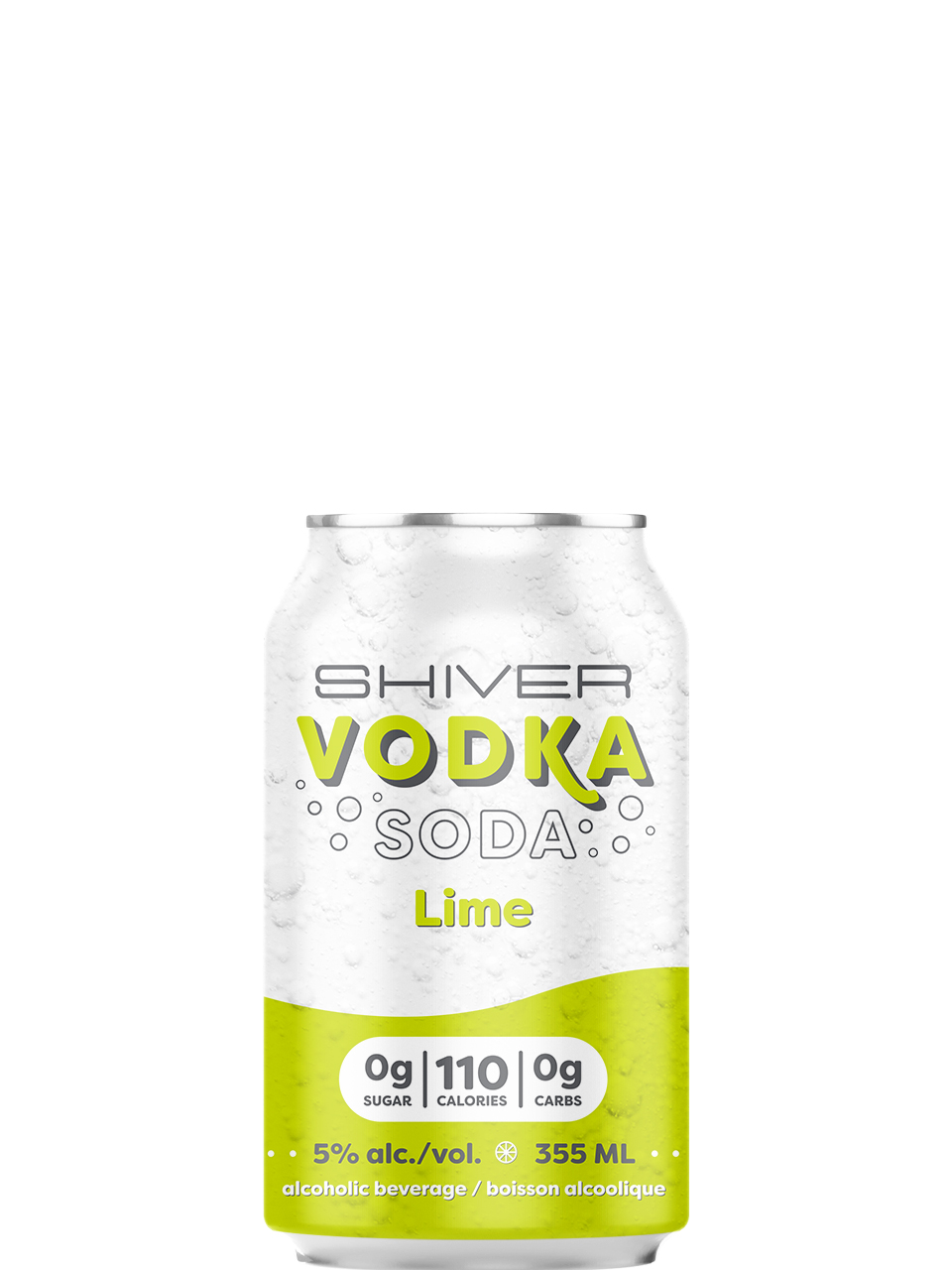 Shiver Lime Vodka Soda 6 Pack Cans