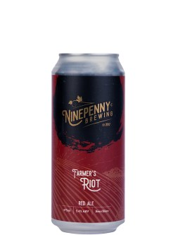 Ninepenny Farmer's Riot Red Ale 473ml Can