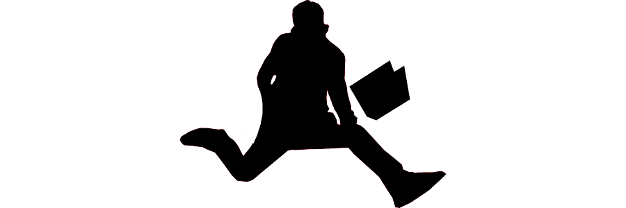 Silhouette of a rock star holding a book