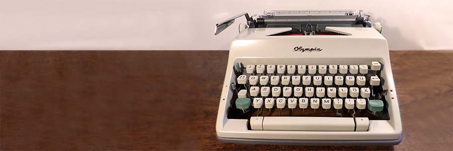 an electric typewriter from the late 1960s