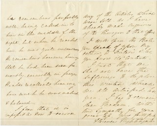 A handwritten letter signed Florence Nightingale