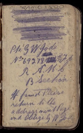 First page of a handwritten diary.