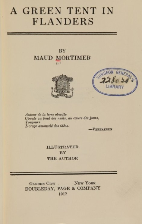Printed title page with the stamp of the Surgeon General's Library