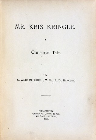 Title page of Mr. Kris Kringle A Christmas Tale, 1893