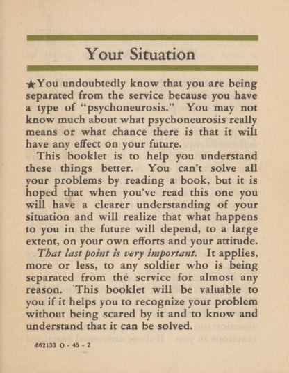 Your situation.