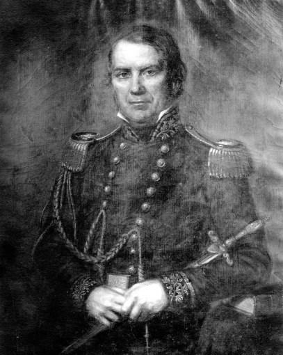 Photograph of a portrait of Benjamin King.