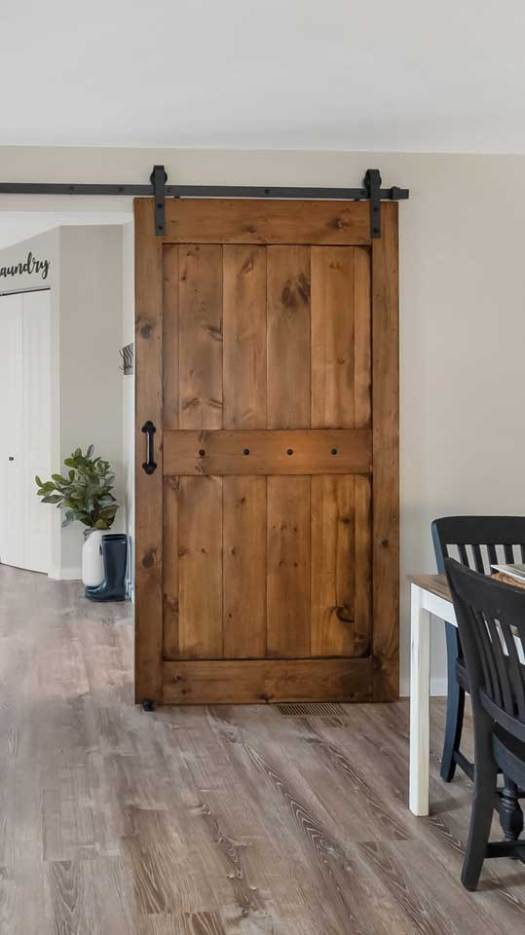 Barn Door Made From Scratch