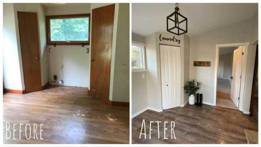 Laundry Room - Before & After Renovations