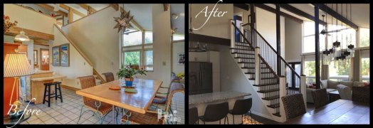 Kitchen/Dining/Living Room - Before & After Renovations