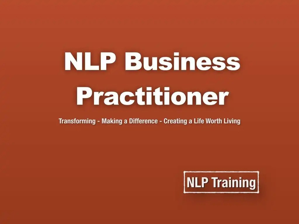 NLP Business Practitioner - NLP Courses - Home of NLP Training