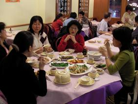 typical Chinese family meal