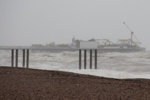 Heavy seas in Brighton