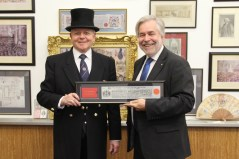 Phillip Holt being presented with the honour of becoming A Freeman of the City of London 2013.
