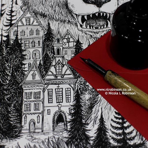 An inky work in progress... © Nicola L Robinson www.nlrobinson.co.uk