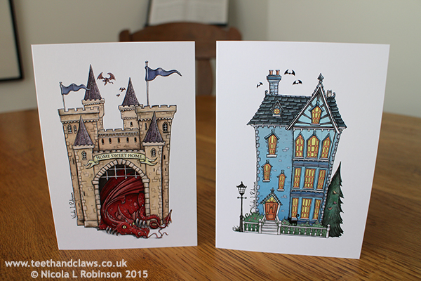 New home cards illustration © Nicola L Robinson All rights reserved www.teethandclaws.co.uk
