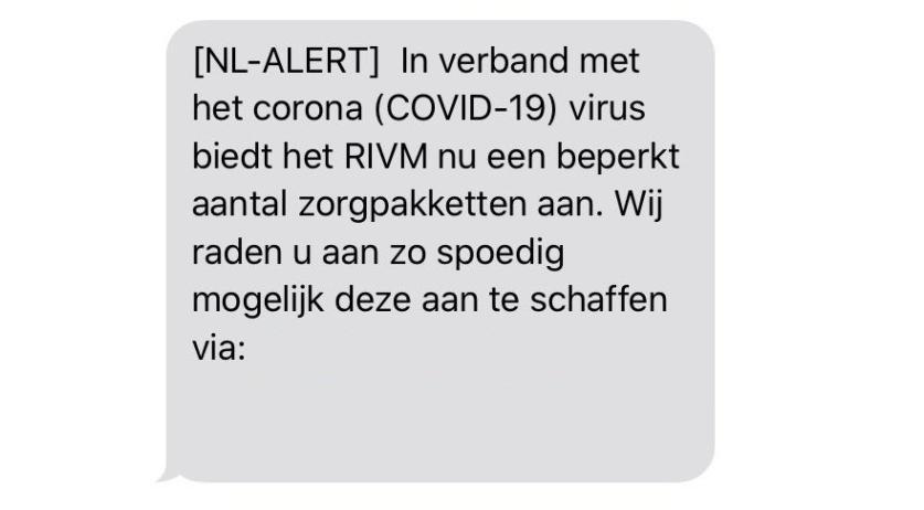 Fake Nl Alert Coronavirus Message A Cyber Scam Warns Rivm