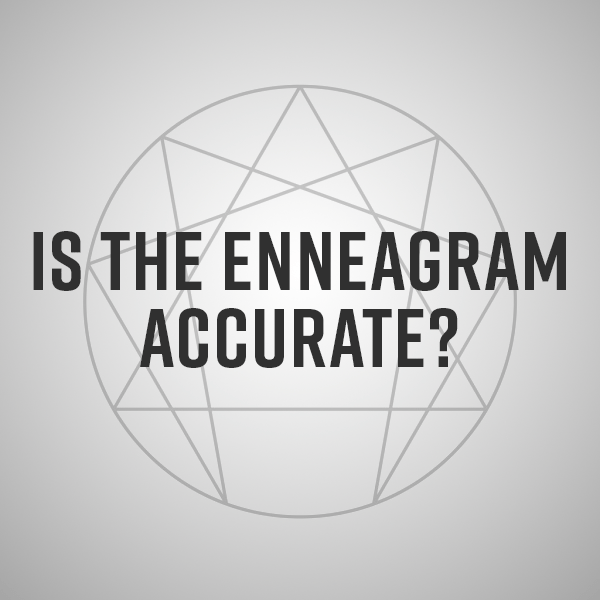"Diagram of the enneagram with ""is the enneagram accurate"" overlaid"