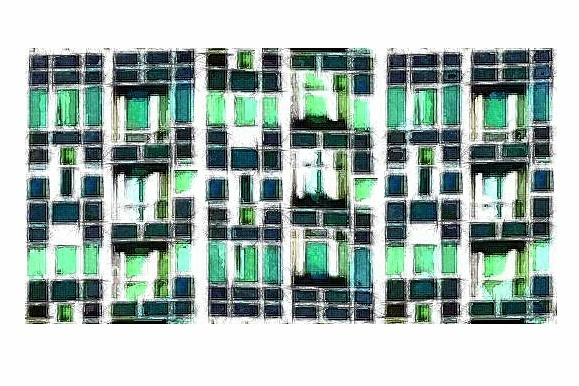 Sketched apt 6 gall gemstone windows