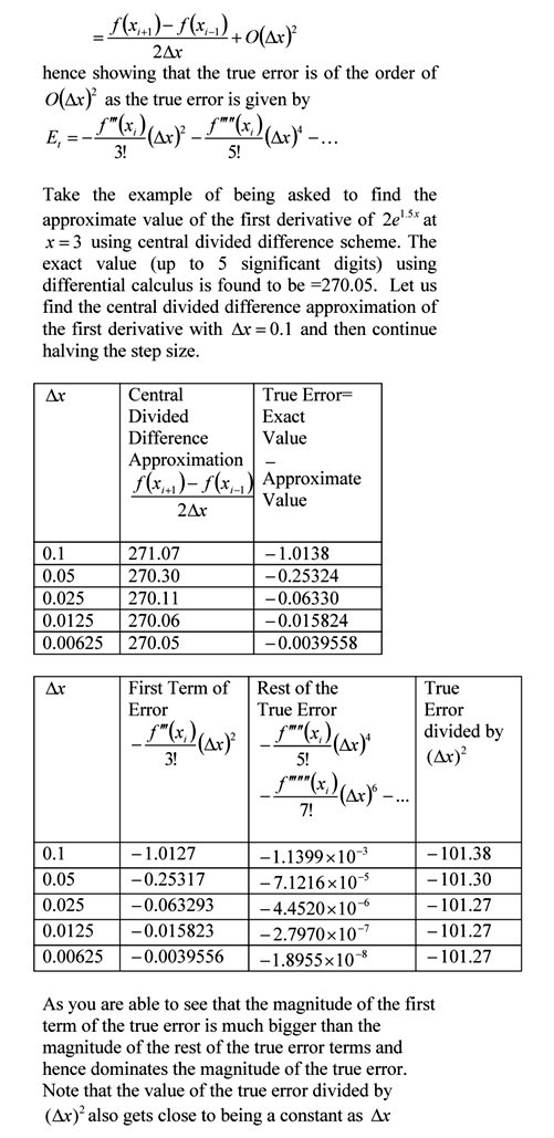 Differentiation – The Numerical Methods Guy