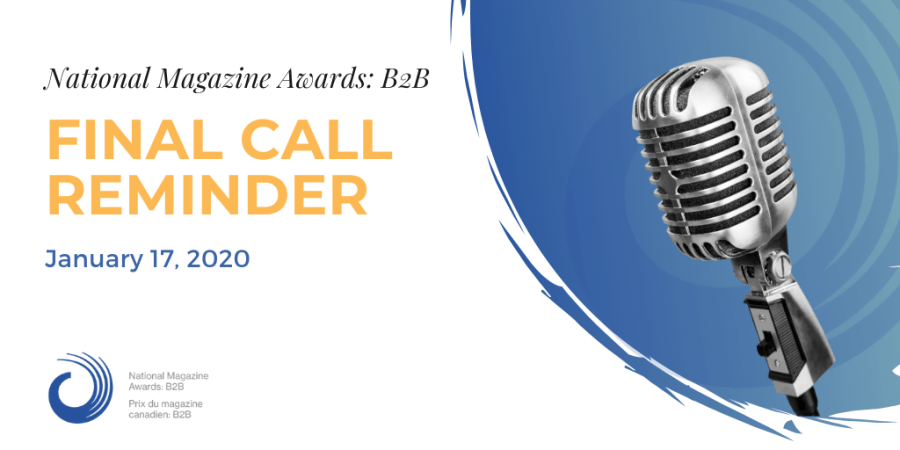 Final Call Reminder - National Magazine Awards: B2B