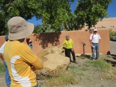 Tour leader Sherry Fletcher provides insight into town's history