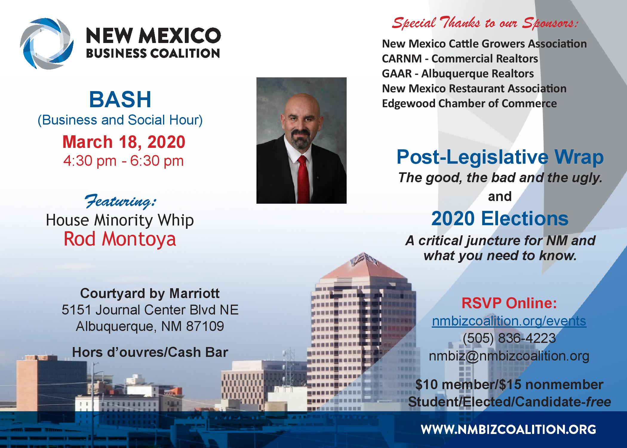 Post-Legislative BASH – Mar. 18 2020