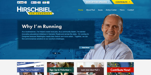 NMC Designs Congressional Campaign Website For Paul