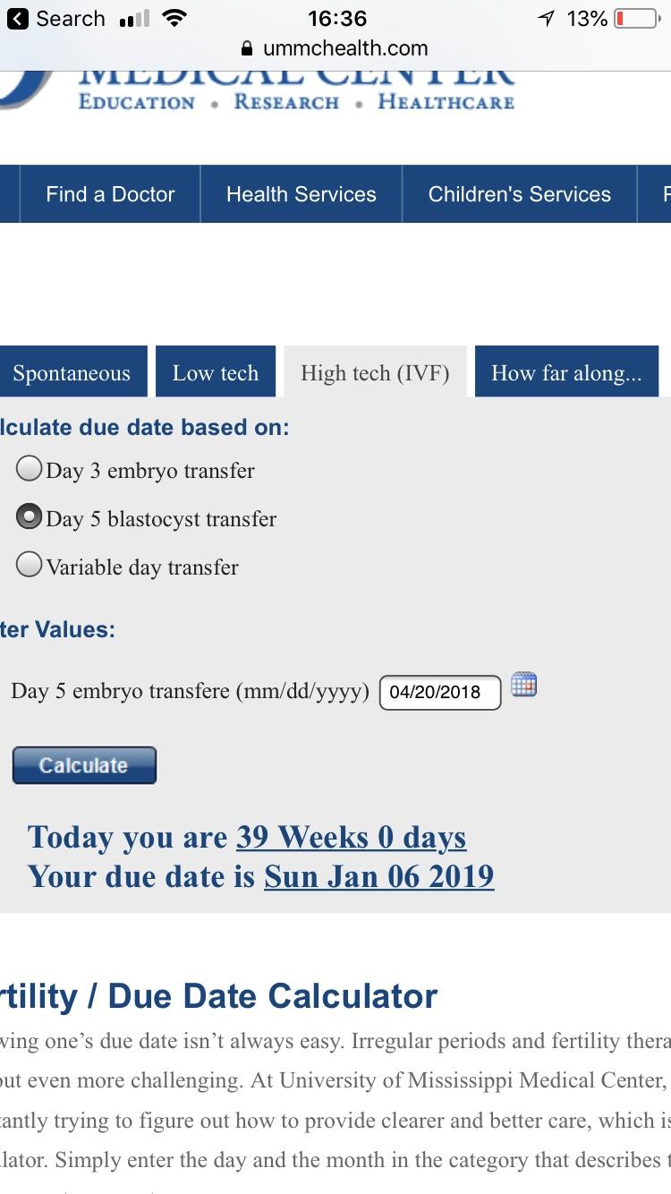 Download Ivf Due Date Calculator Fet Images - ammirasoi