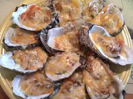 Flamed Oysters