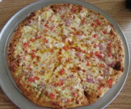 White Garlic Pizza