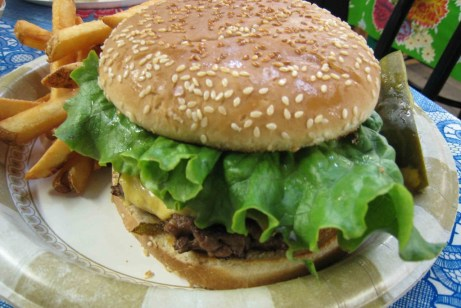 Bode's world-famous green chile cheeseburger
