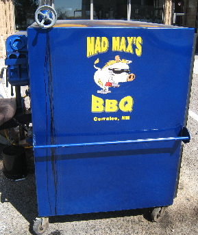 Mad Max's BBQ is portable