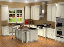 Traditional white kitchen design / 3D rendering | Nick ...