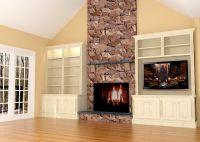 Fireplace wall built-ins w/LED TV | Nick Miller Design