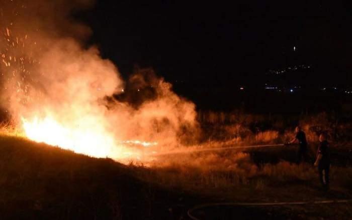 Zjarr në Liqenin Treska në Saraj
