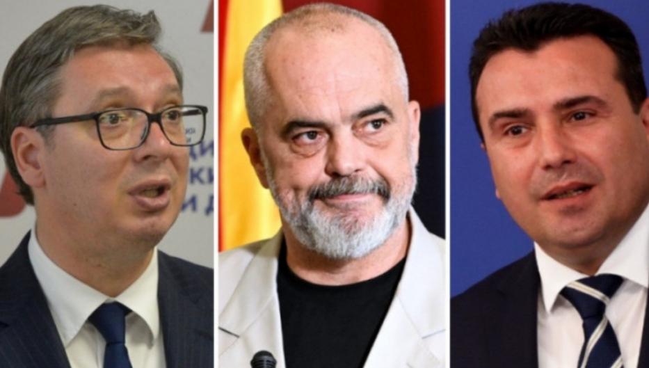 """Vuçiq arrin në Shkup për takimin me Zaev dhe Ramën në kuadër të """"Mini-Shengenit"""