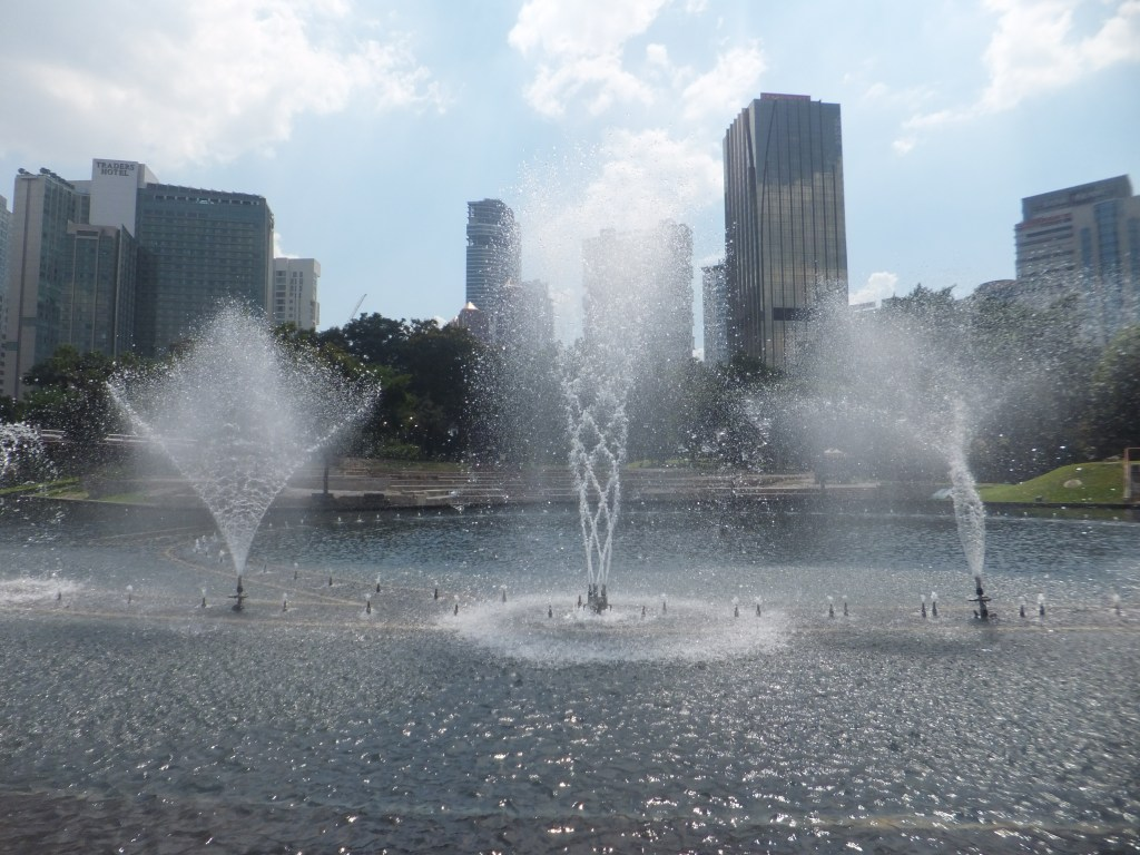 Fountains outside of Petronas Twin Towers