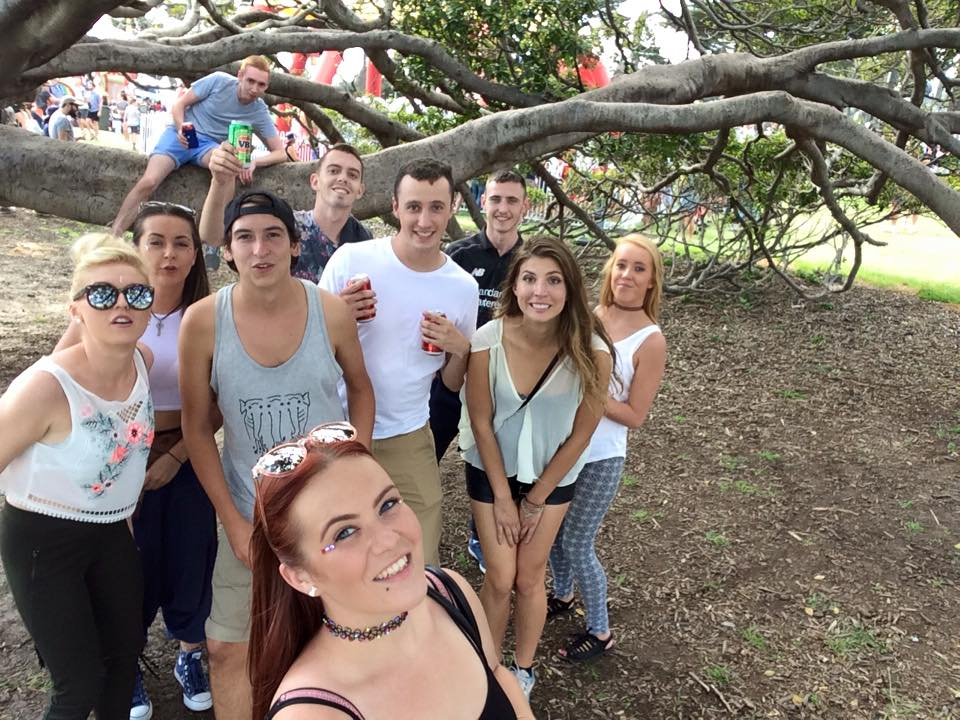 St. Kilda festival in Australia with Backpackers