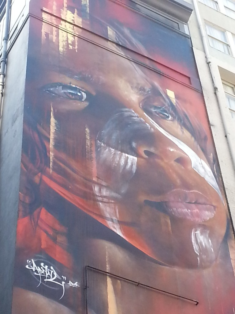 Aboriginal graffiti in Melbourne