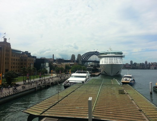 Backpacker view of sydney harbour