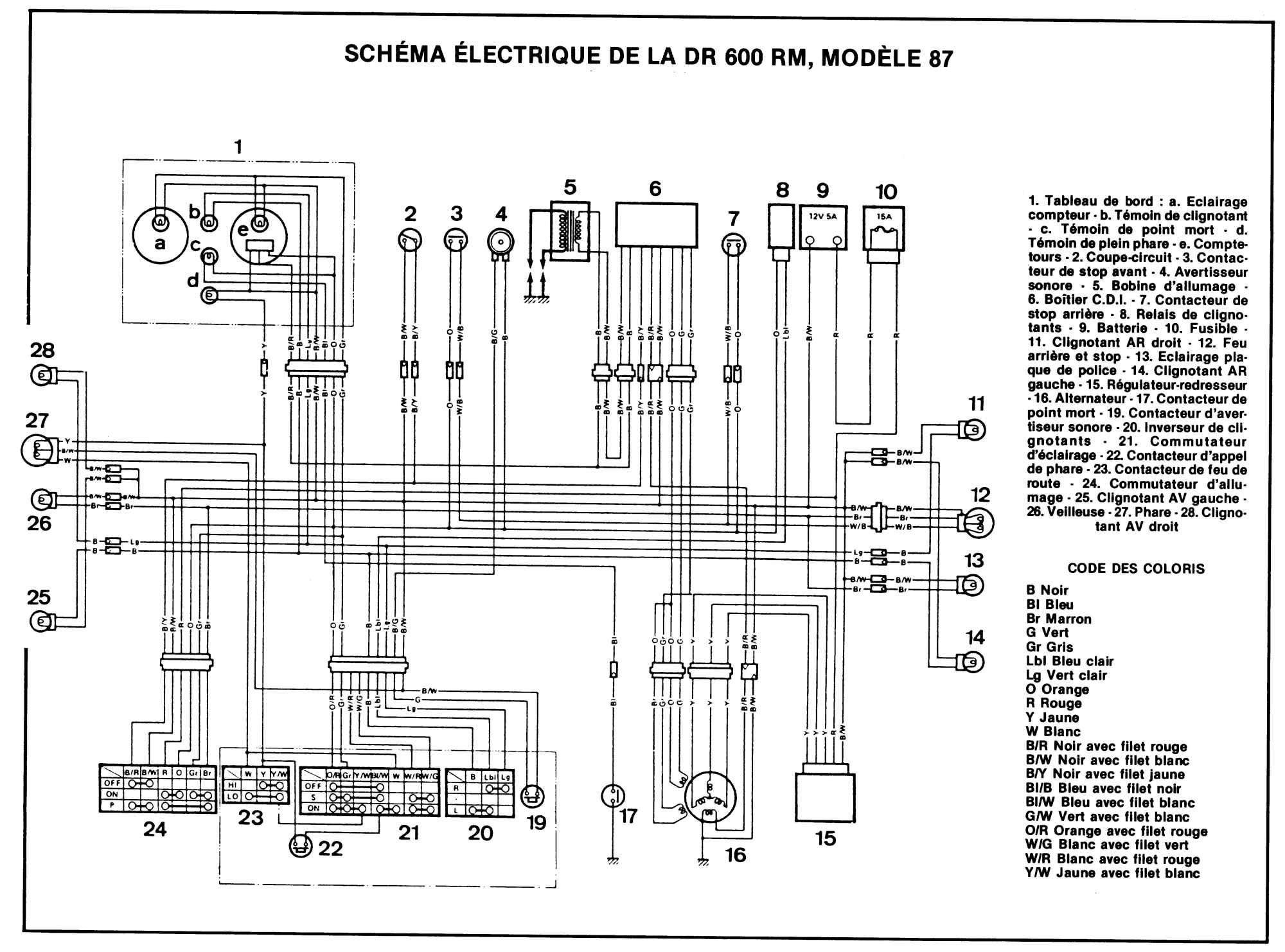 Schema Electrique 600dr Rm 87